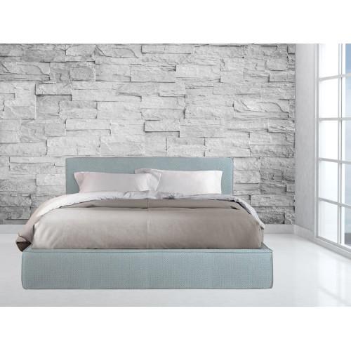 Κρεβάτι Υφασμάτινο Αρμονία P2 Διπλό 160X200cm μαζί με ορθοπεδικό στρώμα