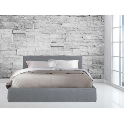 Κρεβάτι Υφασμάτινο Αρμονία P3 Διπλό 160X200cm μαζί με ορθοπεδικό στρώμα